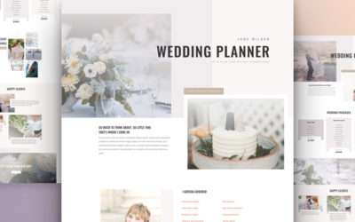 Elegant Wedding Planner Website Layout