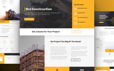 Ultimate Website Layout for Construction Companies