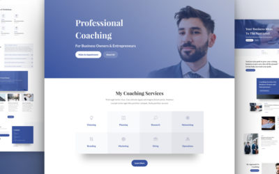 Business Coach Website Design Layout