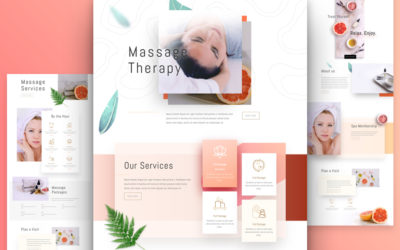 Massage Therapy Website Layout