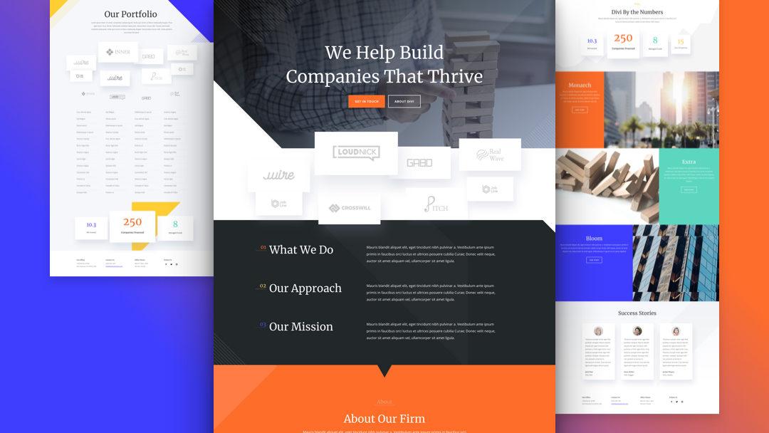 Venture Capital Website Layout Pack