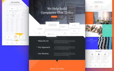 Venture Capital Website Layout Pack