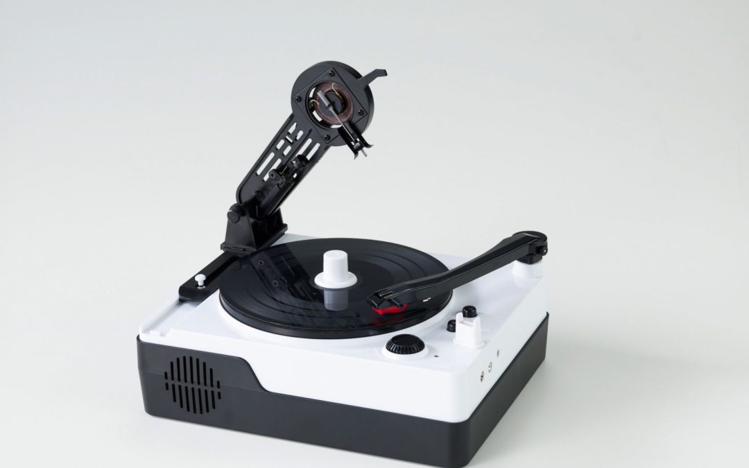 This adorable tiny record maker lets you cut your own 5-inch vinyl singles